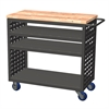 Akro-Mils Louvered Cart, No AkroDrawers, Gray, Gray