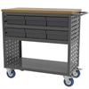 Akro-Mils Louvered Cart, 6 AkroDrawers, Gray/Gray, Gray