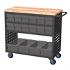 Louvered Cart, 16 AkroDrawers, Gray