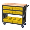 Akro-Mils Louvered Cart, 16 AkroDrawers,Yellow, Gray/Yellow