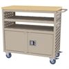 Akro-Mils Louvered Cart w/Locking Doors, 37x18, Putty