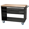 Louvered Cart, 49x24, No AkroDrawers, Black