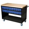 Akro-Mils Louvered Cart, 49x24, 36 AkroDrawers, Black/Blue