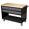 Akro-Mils Louvered Cart, 49x24, 36 AkroDrawers, Black/Gray