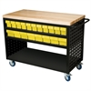 Louvered Cart, 49x24, 36 AkroDrawers/Yel, Black/Yellow