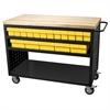 Lvd Cart, 49x24, 32 AkroDrawers/Yellow, Black/Yellow