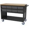 Akro-Mils Louvered Cart, 49x24, 16 AkroDrawers, Black/Gray
