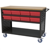 Louvered Cart, 49x24, 16 AkroDrawers, Black/Red