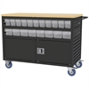 Akro-Mils Lvd Cart w/Locking Doors, 6 AkroDrawers