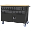 Lvd Cart w/Locking Doors, 6 AkroDrawers