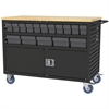 Lvrd Cart w/Locking Doors 32 AkroDrawers, Black/Gray