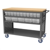 Louvered Cart, 32 AkroDrawers, Gray/Clear