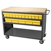 Louvered Cart, 32 AkroDrawers,Yellow, Gray/Yellow