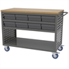 Akro-Mils Louvered Cart, 16 AkroDrawers, Gray
