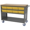 Louvered Cart, 16 AkroDrawers,Yellow, Gray/Yellow