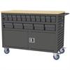 Akro-Mils Lvrd Cart w/Locking Doors 32 AkroDrawers, Gray