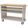 Louvered Cart, No AkroDrawers, Putty, Putty