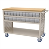 Akro-Mils Louvered Cart, 38 AkroDrawers,Clear, Putty/Clear