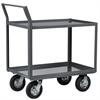 Akro-Mils Shelf Cart Lips UP 30x60, Swayback Hndl, Gray