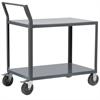 2-Shelf Cart, 18x30, Swayback Hndl, Gray