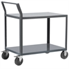 2-Shelf Cart, 24x48, Swayback Hndl, Gray