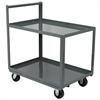 Akro-Mils 2-Shelf Cart, 30x48, Vertical Hndl, Gray