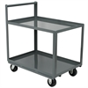 2-Shelf Cart, 30x60, Vertical Hndl, Gray