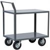 2-Shelf Cart, 24x48, Swayback Hndl, Gray