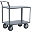 Akro-Mils 2-Shelf Cart, 30x48, Swayback Hndl, Gray