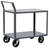 2-Shelf Cart, 30x60, Swayback Hndl, Gray