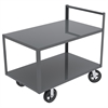 Akro-Mils 2-Shelf Cart, 30x48, Vertical Hndl, Gray