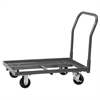 Super-Size AkroBin Cart, 1 Handle, Gray