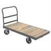 Akro-Mils Super HD Plat Truck, Wood, 36x72, Gray