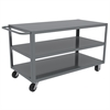 Akro-Mils 3-Shelf Cart 24x48, Horiz. Hndl, Gray