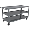 Akro-Mils 3-Shelf Cart Lips UP, 30x60, Gray