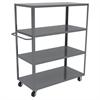 4-Shelf Cart, 30x60, 5 Polyolefin, Gray