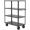 Akro-Mils 4-Shelf Cart, 24x48, 8 Mold-On Rubber, Gray