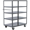 Akro-Mils 5-Shelf Cart, 24x48, 5 Polyolefin, Gray