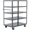 5-Shelf Cart, 36x72, 5 Polyolefin, Gray