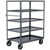 5-Shelf Cart Lips UP, 24x36, Gray