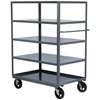 Akro-Mils 5-Shelf Cart, 30x60, 8 Mold-On Rubber, Gray