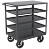 5-Shelf Cart No Bins, 24x36,, Gray