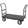 Akro-Mils Versa/Deck Truck, Handle B, Pneumatic, Black Deck/Gray Handle