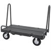 Akro-Mils Versa/Deck Truck, Handle P, Pneumatic, Black Deck/Gray Handle