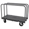 Akro-Mils Versa/Deck Truck, Handle D, Rubber, Black Deck/Gray Handle