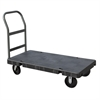 Akro-Mils Versa/Deck Truck, Handle A w/ Crossbars, Black Deck/Gray Handle