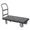 Akro-Mils Versa/Deck Truck, Handle A w Crossbars, Black Deck/Gray Handle