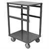 3 Shelf Rack For Jumbo Lug Tub, Gray