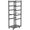 6 Shelf Rack For Jumbo Lug Tub, Gray