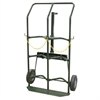 Akro-Mils Hand Truck, Dual Cylinder Gas, Green